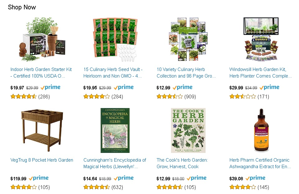 Shop Herbs at Amazon