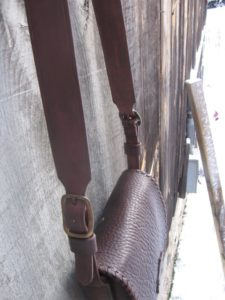 Buffalo Hide Bag with Antique Brass