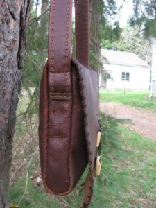 Leather Bag with Mammoth Ivory