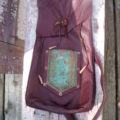 Leather Bag with Copper Pocket