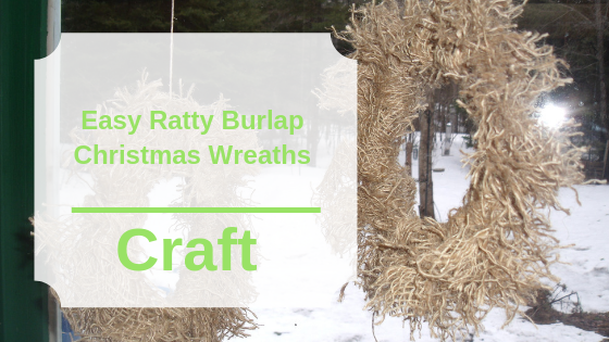 Easy Ratty Burlap Christmas Wreaths
