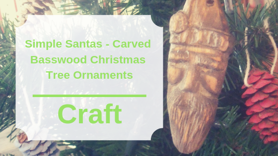 Simple Santas - Carved Basswood Christmas Tree Ornaments