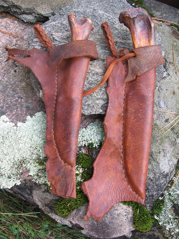 Two Blades One Deer Bone with Sheaths for Sale