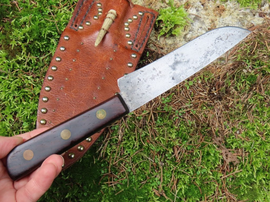 Pioneer style butcher knife hunter skinner